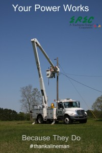 Your Power Works Because They Do #thankalineman