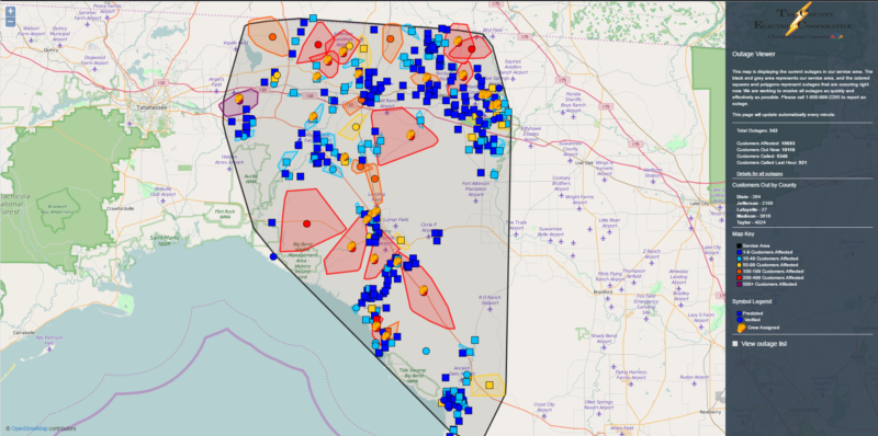 Tri County Outage map